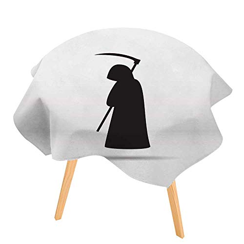 (PINAFORE Spring & Summber Tablecloth Silhouette of The Grim Reaper for Outdoor or Indoor Use, BBQs 71