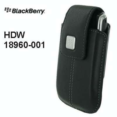 BlackBerry Leather Swivel Holster for BlackBerry 8900, 8520 (Black)