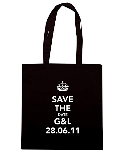 Speed Shirt Borsa Shopper Nera TKC1067 SAVE THE DATE G&L 28.06.11