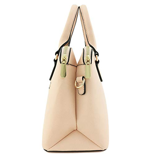 Dome Bag Classic Blush Satchel Double Handle Zip Top pFpqIw6H