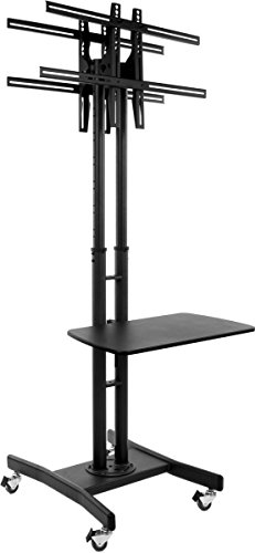 Double Sided Dual TV Stand with Shelf, 32