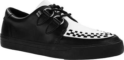1950s Style Mens Shoes T.U.K. Original Footwear A9180 Leather Interlace Sneaker $75.00 AT vintagedancer.com