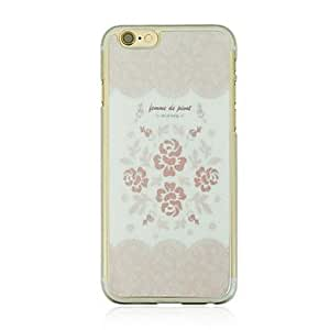 DD Pink Rose Leather Vein Pattern PC Hard Case for iPhone 6 Plus