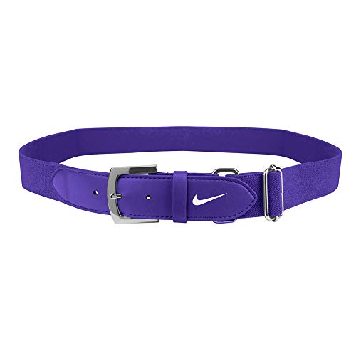 Nike Adult Baseball Belt 2.0, (Purple/White, OneSizeFitsMost)