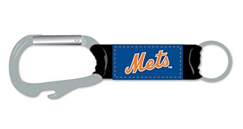 New York Mets Lanyard - Pro Specialties Group New York Mets Premium Carabiner Keychain Bottle Opener Combo Baseball