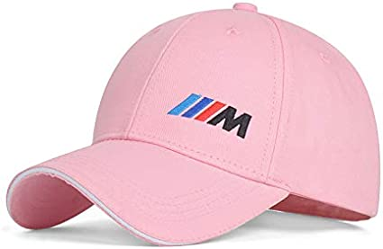 Funsport Pink Baseball Cap Hat with Emblem for Car Accessories