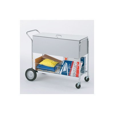 Charnstrom Long Solid Metal Cart with Locking Top and 10-Inch Rear Tires (B288) by Charnstrom