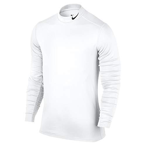 Nike Mens Fitted Mock Turtleneck White (Large) -
