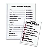 * Self-Adhesive Shop Ticket Holders, 9 x 12, 50/BX
