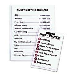 * Self-Adhesive Shop Ticket Holders, 9 x 12, 50/BX