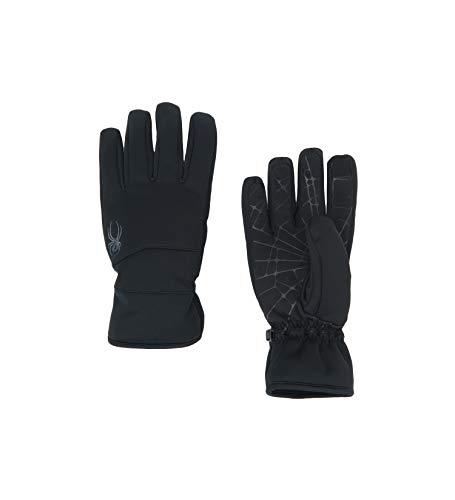 Spyder Men's Facer Conduct Softshell Glove, Black/Black/Black, Large