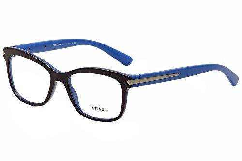 Prada Montures de lunettes 10R Pour Femme Black, 53mm TFF-1O1  Blue   0365a95b0b75