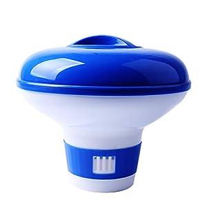 ZoneYan Dispenser Chimico per Piscina, Dosatore di Cloro Piscina Automatico, Distributore di Cloro Galleggiante… 31iX z43GEL. SS300