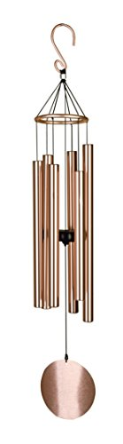 "Pixpri Wind Chimes - for Outdoor Garden - 32"" Elegant Metal Design - Musical Tones (Rose- Gold,similar but not exactly the same tone of the forest green)"