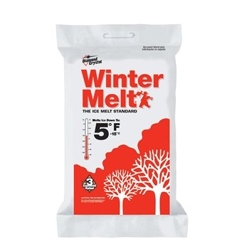 Diamond Crystal Winter Melt Rock Salt Ice Melter Bagged 50 Lb