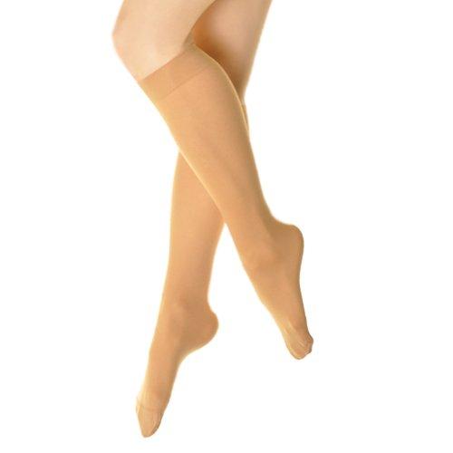 Opaque Trouser Socks - Angelina 70D Opaque Knee-High Trouser Socks (6-Pairs), 3307_BEI