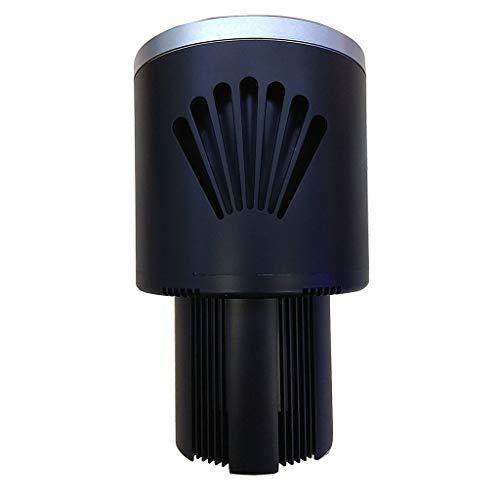 - JinJin Portable Car Cup Beverage Cooler Warmer Smart Premium 2-in-1 Water Mug Heating Refrigeration Holder for Commuter Traveler Tripper (Black)