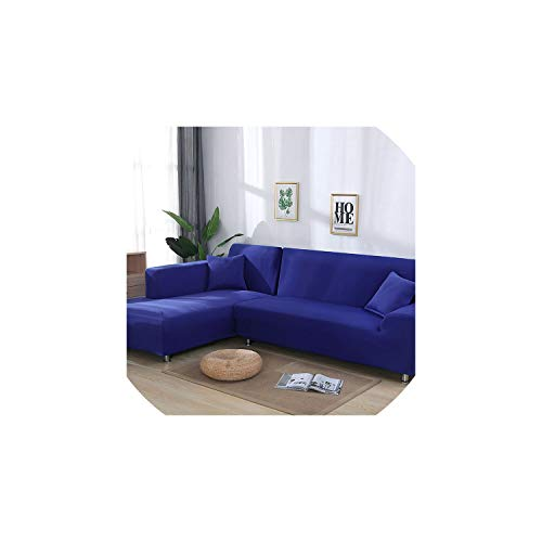 (Sofa coverGrey Color Tight Wrap Sofa Cover Elastic Needs Order 2 Pieces Sofa Cover If L-Style Sectional Corner Sofa capa de Sofa,Blue,3seater and 4seater)