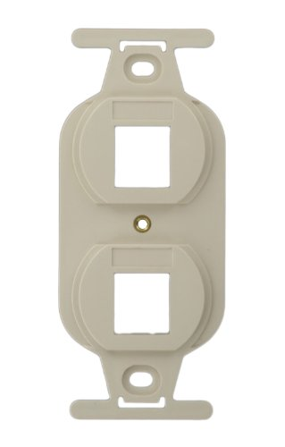 Leviton 41087-2TP QuickPort Duplex Type 106 Insert, 2-Port, Light Almond ()