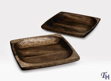 - Noritake Kona Wood 7-3/4-Inch Square Plate