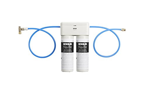 KOHLER 77686-NA Aquifer Double Cartridge Water Filtration System Aquifer Filter