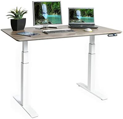 Seville Classics AIRLIFT Pro S3 54″ Solid-Top Commercial-Grade Electric Adjustable Standing Desk 51.4″ Max Height Table - the best modern office desk for the money
