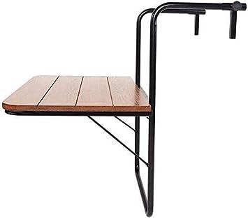 marr/ón,Brown Los bloqueos de hierro sobre la mesa la mesa es un balc/ón plegable