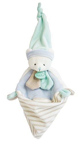 Baby nat' Les Tendres Doudou Forme Ourson Bleu