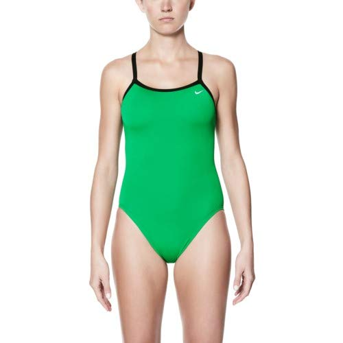 - Nike Poly Core Solid Classic Lingerie Tank Swimsuit - Women's Size 26 Color CourtGreen