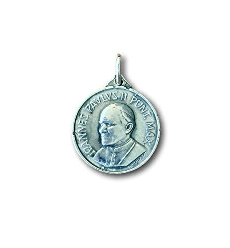Pope John Paul Pendant Medal - Rosa Mystica Pope St John Paul II Medal