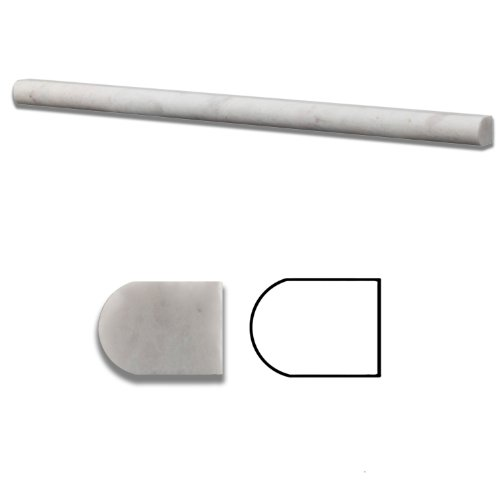 Iceberg Marble Honed 1/2 X 12 Pencil Liner Trim Molding - Standard Quality - BOX of 15 PCS.