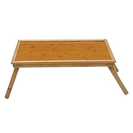 Bandeja lapdesk cama plegable de bambú