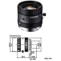 Ricoh FL-CC1214-2M 2/3 12mm F1.4 Manual Iris C-Mount Lens, 2 Megapixel Rated