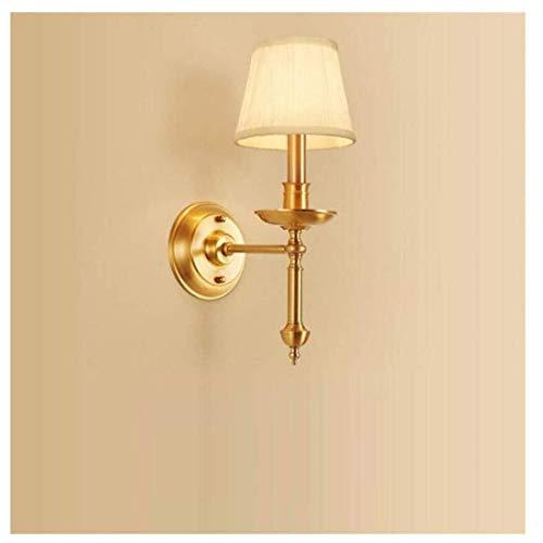 HBLJ Mur Lampcountry Simple Tête Cuivre Pur Salon Mur Chambre Lampe De Chevet Simple Couloir Couloir Lampes