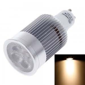 GU10 10W 5 LED 900lm 3000K COB Warm White Spotlight Lamp Bulb Silver & White (85-265V)