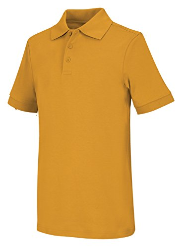 Gold Uniform (Classroom Uniforms CLASSROOM Big Boys' Uniform Short Sleeve Interlock Polo, Gold, X-Large)