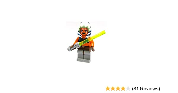 LEGO STAR WARS MINIFIGURE AHSOKA TANO YELLOW LIGHTSABER