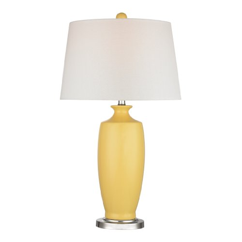 Dimond Lighting D2505 Halisham Ceramic Table Lamp, Sunshine Yellow