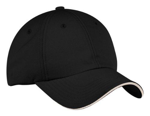 Port Authority Signature Dry Zone Cap, Black/Stone, One Size