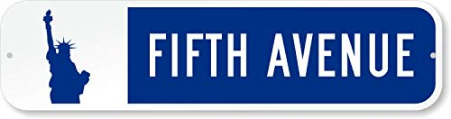 (SmartSign LCSSL-0005-BL-LBY-RA_24x6 Customize Your Own Street Sign with Statue of Liberty Symbol by - 3M Authorized | 24