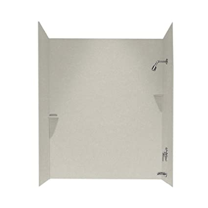 Swanstone SS-72-3-121 Solid Surface Bathtub Wall Panel System, 30 ...