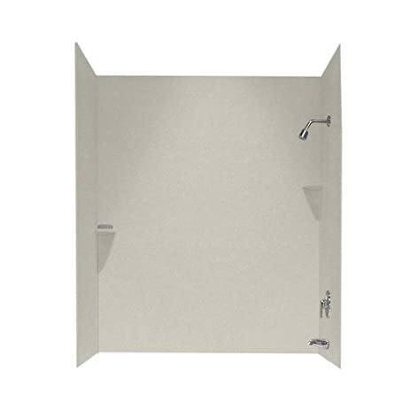 Swanstone SS-60-3-121 Solid Surface Bathtub Wall Panel System, 30 ...