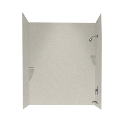 Swan SS00723.121 30-in L x 60-in W x 72-in H Solid Surface Bathtub Wall Kit, (Swanstone Shower Enclosures)