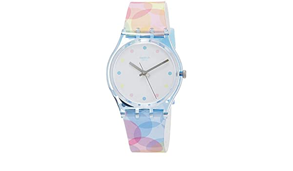 Amazon.com: Swatch Womens Analogue Quartz Watch with Silicone Strap GS159: Watches