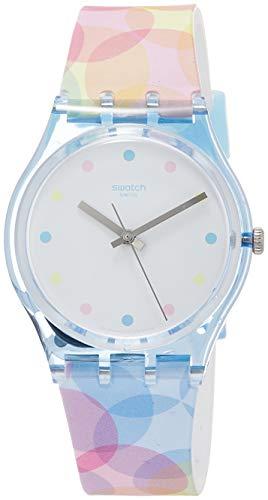 Swatch Womens Analogue Quartz Watch with Silicone Strap GS159 (Mens Swatch Silicone Watch)