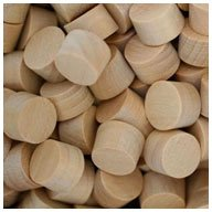 WIDGETCO 3/8'' Maple Wood Plugs, Face Grain by WIDGETCO (Image #1)