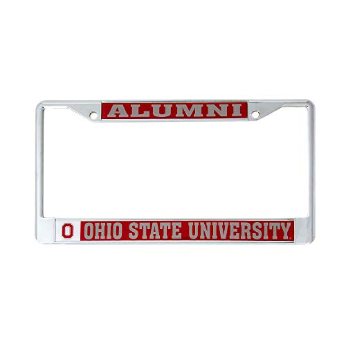 - Desert Cactus Ohio State University Alumni Metal License Plate Frame for Front Back of Car Officially Licensed OSU Buckeyes (Alumni)