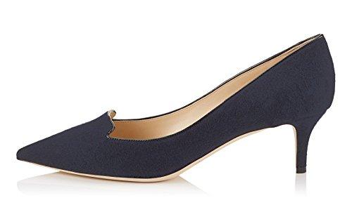 Pointues Enfiler Chaussures Ubeauty Femmes Grande Bleu Toe A Taille Quotidiennement Stilettos Escarpins Des qT6Btwx
