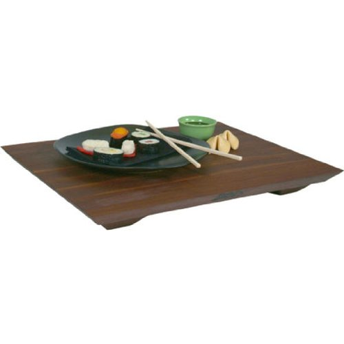 John Boos Fusion Edge Grain Cutting and Serving Board with Feet, Walnut Wood, 20 Inches x 15 Inches x 1 Inch