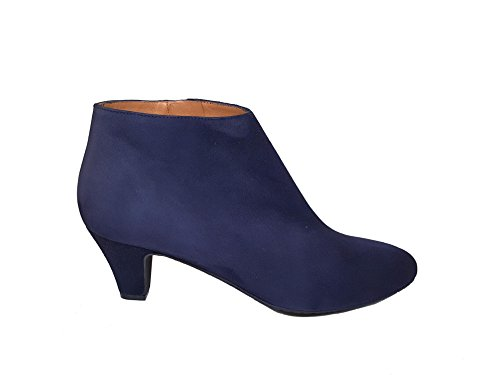 GENNIA Suede Ankle Heel Boots Leather Leather 38 3371 ELIPE Marino Size with Low Women´s fAqx1rawzf